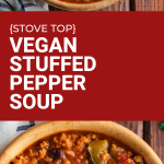 vegan stove top stuffed pepper soup