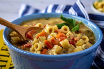 Creamy Vegetable Noodle Soup-7