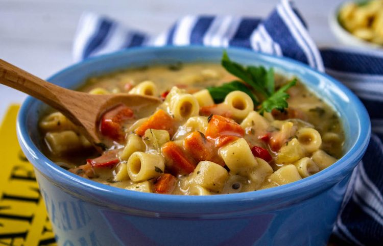 Creamy Vegetable Noodle Soup-7