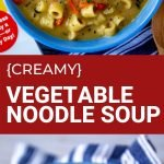 creamy vegetable noodle soup