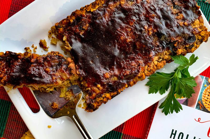 Chickpea Loaf with Balsamic Glaze
