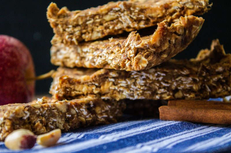 No Bake Apple Peanut Butter Protein Bars