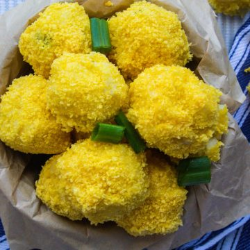 vegan mashed potato balls