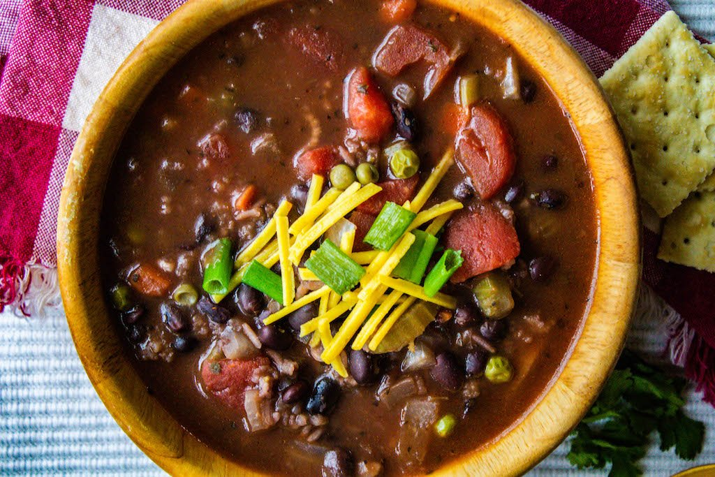 black bean and rice soup in the slow cooker-3