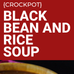 crockpot black bean and rice soup