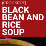 crockpot black bean and rice soup