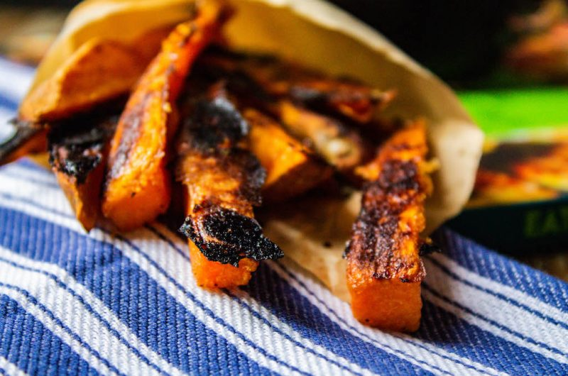 Miso-Glazed Maple Sweet Potato Fries