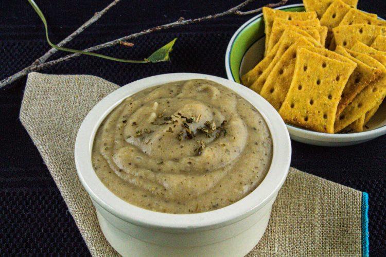 healthy white bean basil dip