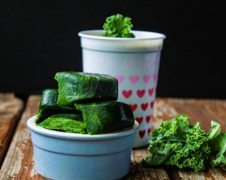 kale ice cubes