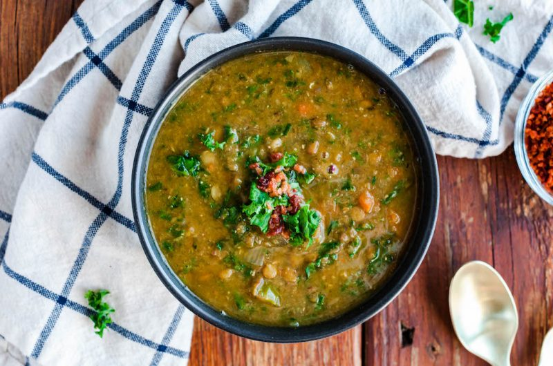 Vegan Lentil Soup with Kale