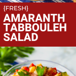 Fresh Amaranth Tabbouleh-Style Salad