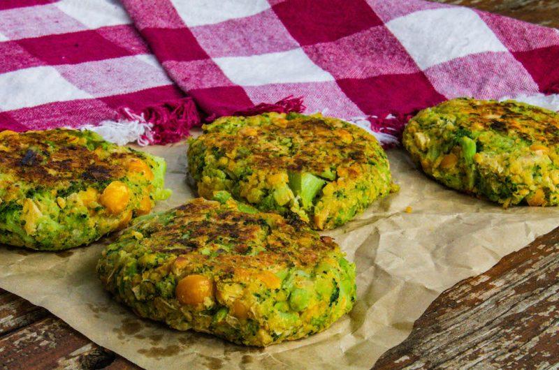 Vegan Broccoli Chickpea Fritters