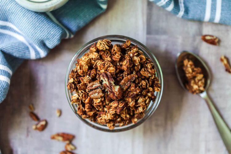 gluten free oil free pecan pie granola