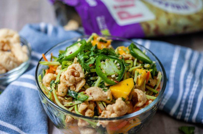 Vegan Thai Mango 'Pork' Slaw
