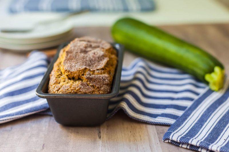 Vegan Cinnamon Sugar Zucchini Bread