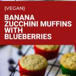 vegan banana zucchini muffins