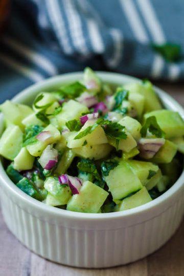 vegan cucumber salsa