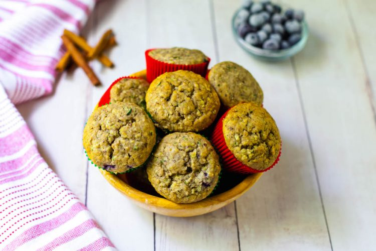vegan zucchini banana muffins