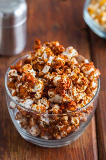vegan chai spice popcorn