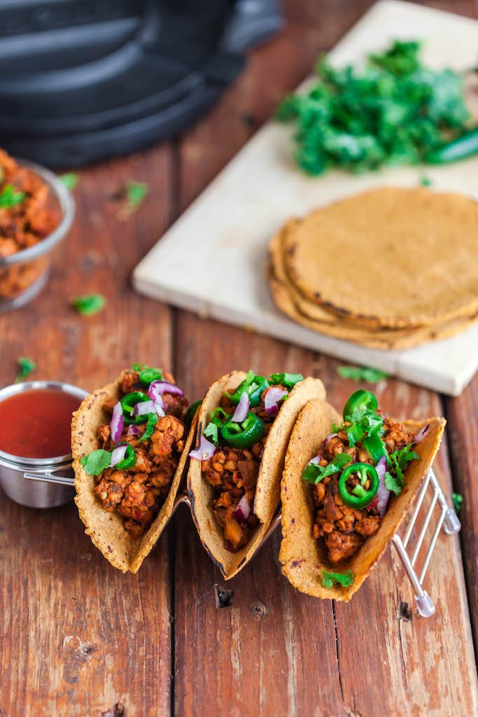 vegan chorizo tacos