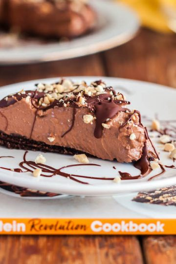 chocolate kissed peanut butter pie-13