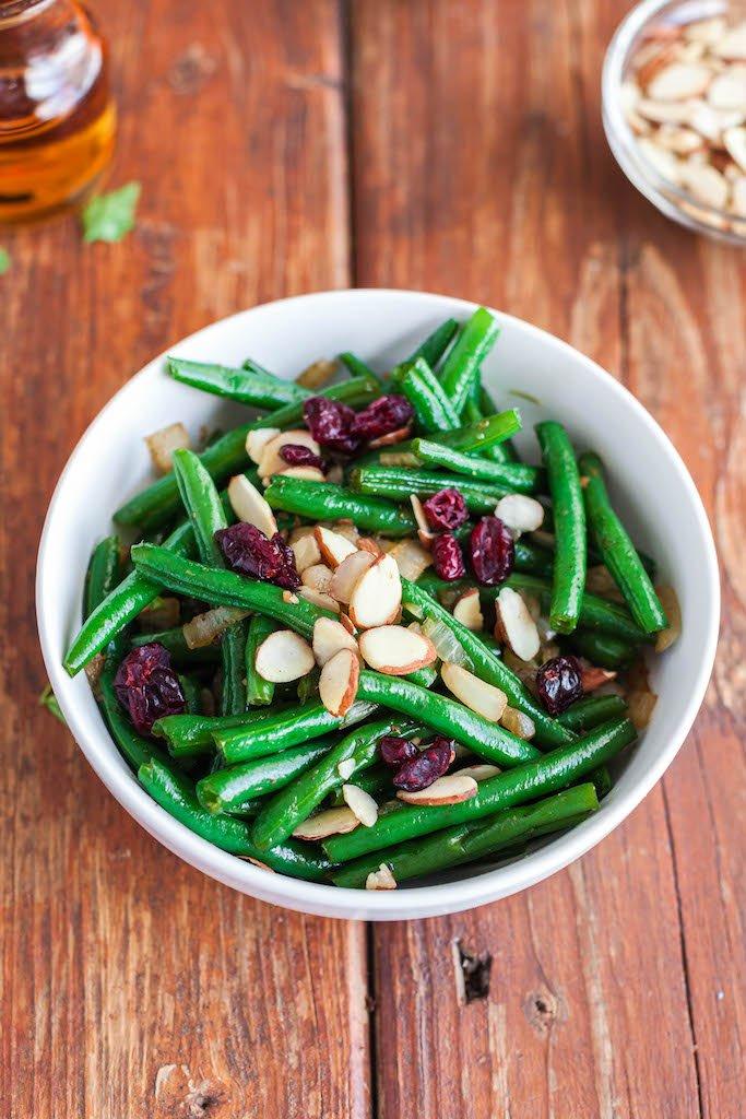 sweet glazed maple green beans