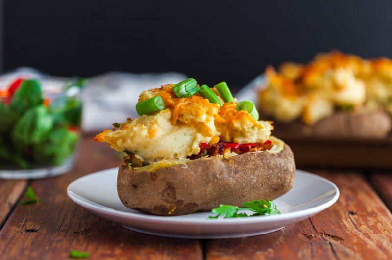 Vegan Shepherd's Pie Twice Baked Potatoes