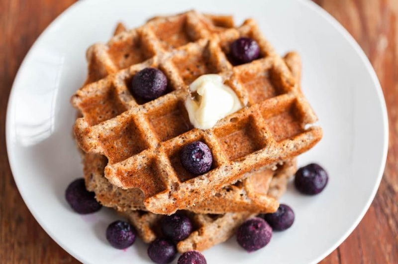 Grain Free Pumpkin Pie Spiced Waffles