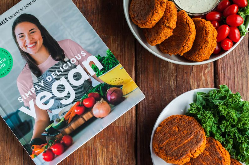 Sweet and Smoky Chickpea Burgers [Simply Delicious Vegan Cookbook]