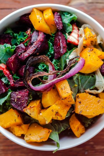 roasted beets fennel squash
