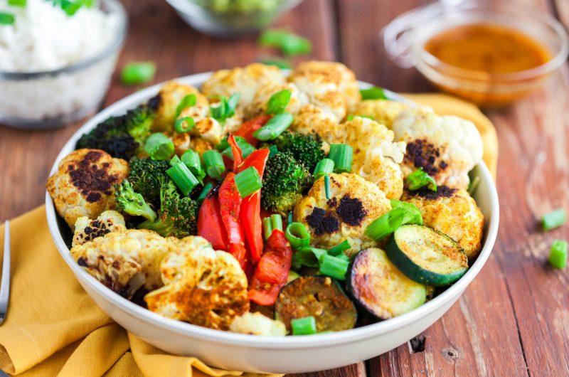 Jasmine Rice Bowl with Curried Vegetables